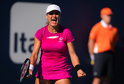March 22, 2019 - Miami, FLORIDA, USA - Monica Niculescu of Romania in action during the second-round at the 2019 Miami Open WTA Premier Mandatory tennis tournament (Credit Image: © AFP7 via ZUMA Wire)