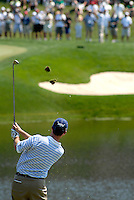 Steve Marino, a Fairfax native, watches his tee shot from the fourth hole while playing during the 2008 AT&T National at Congressional Country Club in Bethesda.