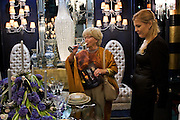 Moscow, Russia, 28/09/2005..The first Millionaire Fair in Moscow at the Crocus City Expo Centre attracted thousands of would-be and existing Russian millionaires to view and purchase a wide range of luxury goods. Complimentary champagne for potential customers..