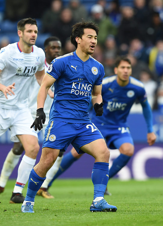 Leicester City's Shinji Okazaki<br /> <br /> Photographer Jon Hobley/CameraSport<br /> <br /> The Premier League - Leicester City v Crystal Palace - Saturday 16th December 2017 - King Power Stadium - Leicester <br /> <br /> World Copyright © 2017 CameraSport. All rights reserved. 43 Linden Ave. Countesthorpe. Leicester. England. LE8 5PG - Tel: +44 (0) 116 277 4147 - admin@camerasport.com - www.camerasport.com