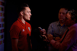 CARDIFF, WALES - Tuesday, November 13, 2018: Wales' Connor Roberts is interviewed during a media session at the St Fagans National Museum of History ahead of the UEFA Nations League Group Stage League B Group 4 match between Wales and Denmark. (Pic by David Rawcliffe/Propaganda)