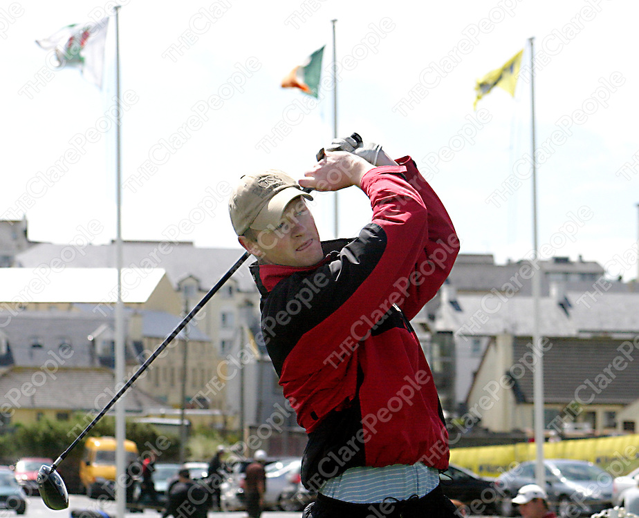 Local man Mark Ryan at the South of Ireland Tournament in Lahinch Golf Club at the weekend.<br /><br /><br /><br />Photograph by Yvonne Vaughan.