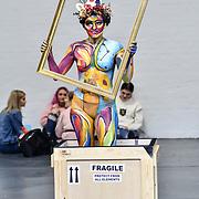 Branka Vorkapic create Van Gogh Living Arts  with model Andie Cizkova demo at IMATS on 18 May 2019,  London, UK.
