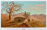 Shiloh was an ancient city in Samaria mentioned in the Hebrew Bible and Christian Old Testament. It has been positively identified with modern Khirbet Seilun,  Coloured Illustration of from the book Palestine illustrated by Sir Richard Temple, 1st Baronet, GCSI, CIE, PC, FRS (8 March 1826 – 15 March 1902) was an administrator in British India and a British politician. Published in London by W.H. Allen & Co. in 1888