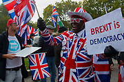 On the day that the UK was scheduled to leave the European Union, pro leave demonstraters voice their frustration outside the Houses of Parliament in London, United Kingdom on 31st October 2019. A further extension has been granted until 31st January 2020 and a general election has been called, in a bid to break the Parliamentary deadlock.