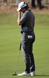 England's Eddie Pepperell reacts after a bogey on the 2nd green during day one of The Open Championship 2018 at Carnoustie Golf Links, Angus.