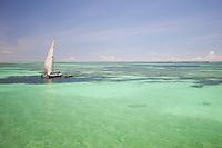 A fisherman glides over Diani Beach, Kenya