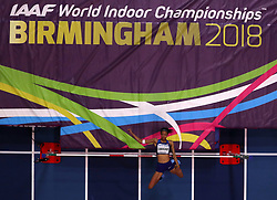 USA's Vashti Cunningham in action during the Women's High Jump during day one of the 2018 IAAF Indoor World Championships at The Arena Birmingham, Birmingham. PRESS ASSOCIATION Photo. Picture date: Thursday March 1, 2018. See PA story ATHLETICS Indoor. Photo credit should read: Simon Cooper/PA Wire.