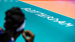 05-06-2018 NED: Volleyball Nations League Italy - Serbia, Rotterdam<br /> Court Rotterdam item volleyball