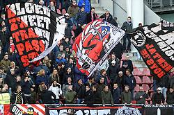 13-12-2015 NED: FC Utrecht - AFC Ajax, Utrecht<br /> Utrecht verslaat Ajax opnieuw in de Galgenwaard 1-0 / Utrecht support, sfeer, vlaggen