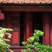 Building exterior at Temple of Literature, Hanoi