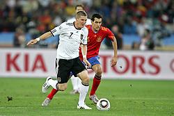 07.07.2010, Moses Mabhida Stadium, Durban, SOUTH AFRICA, Deutschland ( GER ) vs Spanien ( ESP ) im Bild Bastian Schweinsteiger of Germany.Foto ©  nph /  Kokenge / SPORTIDA PHOTO AGENCY