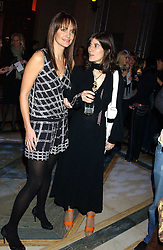 Left to right, model SAFFRON ALDRIDGE and BELLA FREUD at the 2005 Lancome Colour Design Awards in association with CLIC Sargent Cancer Care for Children held at the Freemasons' Hall, Great Queen Street, London on 23rd November 2005.<br />NON EXCLUSIVE - WORLD RIGHTS