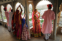 Dancers at the Devi Garh in India's Rajasthan Thar desert. (Photo by Ami Vitale)