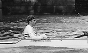 Chiswick. London.<br /> Eights starting from Mortlake. Cox Pat SWEENEY, <br /> <br /> 1987 Head of the River Race over the reversed Championship Course Mortlake to Putney on the River Thames. Saturday 28.03.1987. <br /> <br /> [Mandatory Credit: Peter SPURRIER;Intersport images] 1987 Head of the River Race, London. UK