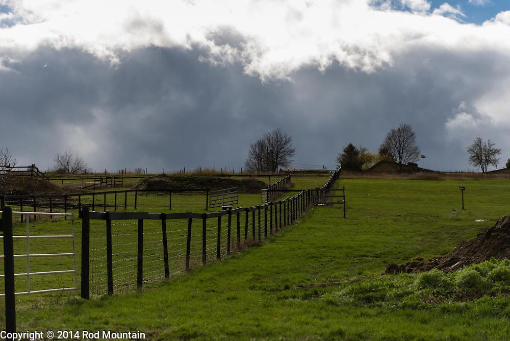 Farmland near Swan Lake in British Columbia.