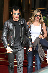 """File photo - Jennifer Aniston and her boyfriend Justin Theroux leaving the Ritz Hotel in Paris, France on June 14, 2012, and heading to Bourget Airport to catch a flight. Hollywood couple Jennifer Aniston and Justin Theroux are separating after two years of marriage. The pair, who reportedly met on the set of comedy film Wanderlust, said the mutual decision was """"lovingly made"""" at the end of last year. Photo by ABACAPRESS.COM"""