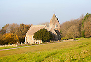 Rural St. Anne's church standing alone at Bowden Hill, Wiltshire, England,UK