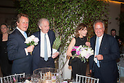 GUY MORRISON; JULIAN SEYMOUR; DIANA SEYMOUR, The Cartier Chelsea Flower show dinner. Hurlingham club, London. 20 May 2013.