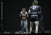 Kampfsport: MMA, We love MMA, Oberhausen, 31.01.2015<br /> Paulina Ioannidou (Combat Club Gologne, l.) - Fran Vanderstrukken (Perfect Team Belgien)<br /> © Torsten Helmke