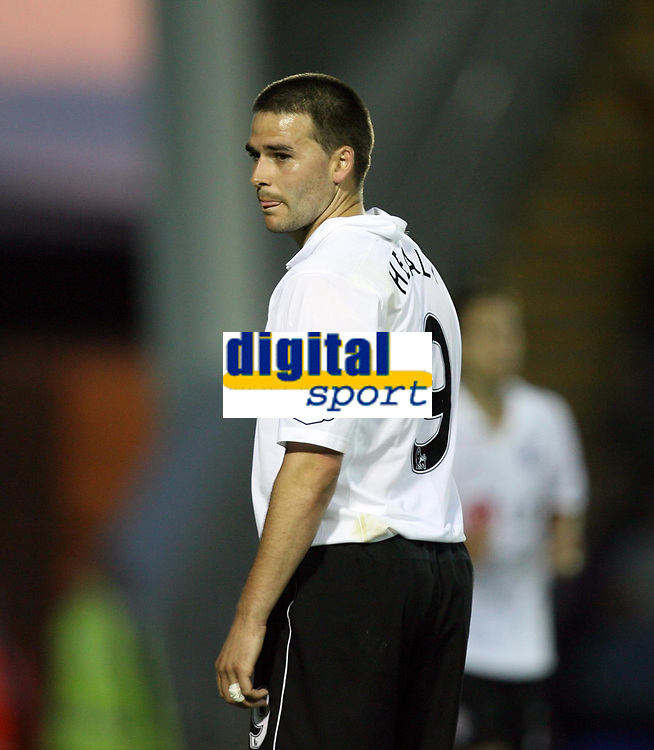 Photo: Rich Eaton.<br /> <br /> Shrewsbury Town v Fulham. Carling Cup. 28/08/2007. Fulham's David Healy rues a missed chance on goal in the first half.