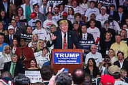 Madison, Mississippi, March 7, 2016 Republican presidential candidate Donald Trump speaks during a campaign rally the day before Mississippi primary.