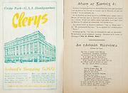 All Ireland Senior Hurling Championship Final,.Programme,.05.09.1954, 09.05.1954, 5th September 1954,.Cork 1-9, Wexford 1-6,.Minor Dublin v Tipperary, .Senior Cork v Wexford,.Croke Park,..Advertisments, Clerys Ireland's Shopping GHQ,..Articles, Abir Ar Gaedilg E,..Songs, An Tamran Nairiunta,