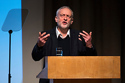 © Licensed to London News Pictures. 16/01/2016. London, UK. Leader of the Labour Party JEREMY CORBYN speaks at the Fabian Society New Year Conference, held at the Institute of Education in London. Photo credit: Ben Cawthra/LNP