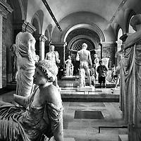 Inside the Louvre, Paris, France