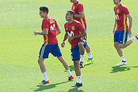 Marc Bartra and Thiago Alcantara during the training of the spanish national football team in the city of football of Las Rozas in Madrid, Spain. August 28, 2017. (ALTERPHOTOS/Rodrigo Jimenez)