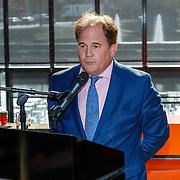 NLD/Hilversum/20181003 - Onthulling Mies Bouwman Totempaal, Eppo van Nispen tot Sevenaer, directeur van Beeld en Geluid in Hilversum