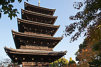 To-ji is a Buddhist temple of the Shingon sect in Kyoto. Its name means East Temple. Toji's pagoda is  54.8 meters high and is the tallest wooden tower in Japan.The pagoda has long been the icon of Kyoto.