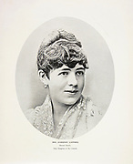 """Mrs. Algernon Sartoris Nellie Grant, Only Daughter of General Grant from The American Civil War book and Grant album : """"art immortelles"""" : a portfolio of half-tone reproductions from rare and costly photographs designed to perpetuate the memory of General Ulysses S. Grant, depicting scenes and incidents in connection with the Civil War Published  in Boston and New York by W. H. Allen in 1894"""