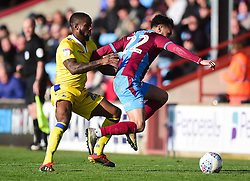Abu Ogogo of Bristol Rovers tackles Levi Sutton of Scunthorpe United - Mandatory by-line: Alex James/JMP - 09/03/2019 - FOOTBALL - Glanford Park - Scunthorpe, England - Scunthorpe United v Bristol Rovers - Sky Bet League One