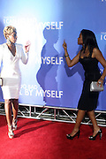 l to r: Mary J. Blige and Taraji Blige at Tyler Perry's special New York Premiere of ' I Can Do Bad all By Myself ' held at the School of Visual Arts Theater on September 8, 2009 in New York City.
