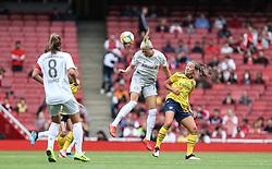 Carina Wenninger of Bayern Munich heads the ball clear - Mandatory by-line: Arron Gent/JMP - 28/07/2019 - FOOTBALL - Emirates Stadium - London, England - Arsenal Women v Bayern Munich Women - Emirates Cup