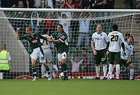 Photo: Lee Earle.<br /> Plymouth Argyle v Norwich City. Coca Cola Championship. 23/09/2006. Plymouth's Marcel Seip (L) celebrates scoring their second.