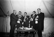 17/3/1966<br /> 3/17/1966<br /> 17 March 1966<br /> <br /> Winners of the 4L Economy Test receiving their prize<br /> <br /> Mr. Kilroy, Mr. Johnson, Mr. Cornane, Mr. O'Bryne and Mr. Roéche