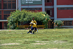 June 30, 2019 - Srinagar, J&K, India - Kashmiri visually impaired cricket player in action during the match in Srinagar..The first ever blind cricket tournament was organized by J&K Handicapped Association and Disable People's Trust for the visually-impaired players here in Srinagar. The motive behind this tournament is to encourage players to take part in sports events and boost their morals so that they can also make a career in sports. (Credit Image: © Saqib Majeed/SOPA Images via ZUMA Wire)