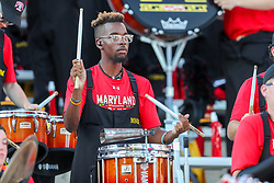 Sep 4, 2021; College Park, Maryland, USA; A Maryland Terrapins drummer performs during the third quarter against the West Virginia Mountaineers at Capital One Field at Maryland Stadium. Mandatory Credit: Ben Queen-USA TODAY Sports