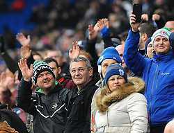 Cardiff City fans taunt the opposition- Mandatory by-line: Nizaam Jones/JMP- 13/01/2018 -  FOOTBALL - Cardiff City Stadium - Cardiff, Wales -  Cardiff City v Sunderland - Sky Bet Championship