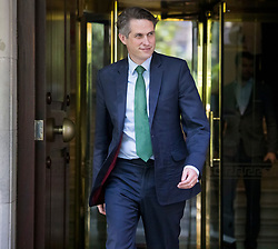 © Licensed to London News Pictures. 10/08/2021. London, UK. Education Secretary GAVIN WILLIAMSON is seen  in Westminster, London on the morning that A-Level exam results are released. Photo credit: London News Pictures