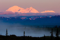Denali (Mount McKinley) 6,193.6 metres (20,320 ft) at sunrise