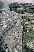 Combestone Tor, Dartmoor, Devon, processed to emulate wet plate technique.