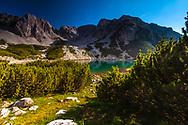 Reamrkable mountain peak above a lake