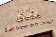 Chateau St Martin de la Garrigue. Languedoc. France. Europe.