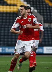 Bristol City's Sam Baldock celebrates his goal - Photo mandatory by-line: Matt Bunn/JMP - Tel: Mobile: 07966 386802 21/12/2013 - SPORT - FOOTBALL - Meadow Lane - Nottingham - Notts County v Bristol City - Sky Bet League One