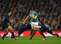 Rugby Union - 2017 Guinness Series (Autumn Internationals) - Ireland vs. Argentina<br /> <br /> Ireland's Jacob Stockdale is tackled by Santiago Gonzalez Iglesias and Joaquin Tuculet, at the Aviva Stadium.<br /> <br /> COLORSPORT/KEN SUTTON