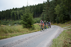 Lisa Klein leads the escape over the first gravel sector at the Crescent Vargarda - a 152 km road race, starting and finishing in Vargarda on August 13, 2017, in Vastra Gotaland, Sweden. (Photo by Sean Robinson/Velofocus.com)