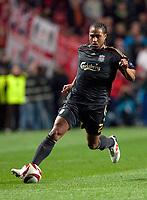 20100401: LISBON, PORTUGAL - SL Benfica vs Liverpool: Europa League 2009/2010 - Quarter-Finals - 1st leg. In picture: Glen Johnson. PHOTO: Carlos Rodrigues/CITYFILES